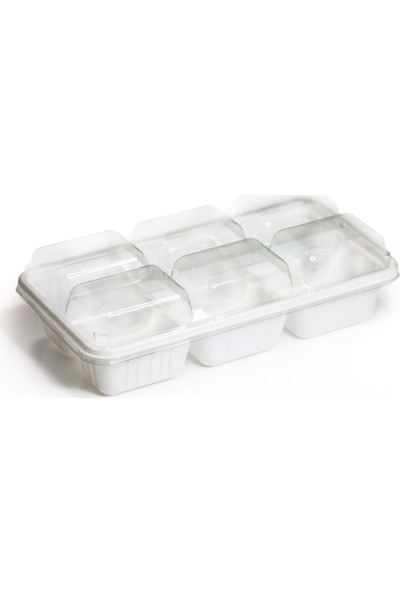 Özge Plastik 6 Bölmeli Dondurma Kasesi Seti
