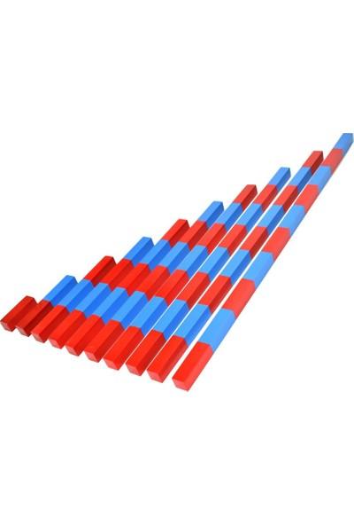 Woo Concepts Montessori Matematik Materyali Sayı Çubuğu 10 cm Ritmik