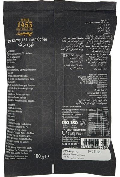 Asırlık Kahve 1453 Türk Kahvesi 100 gr