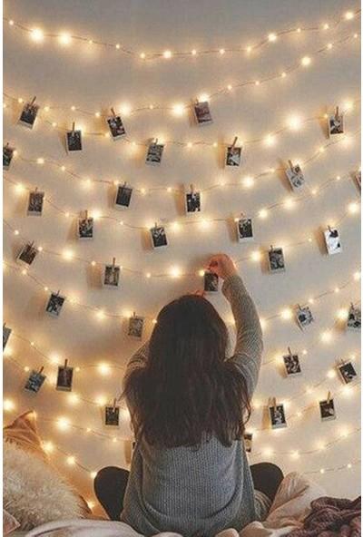 Mermaid Home LED Işık 3 Metre + 15 Adet Mini Mandal