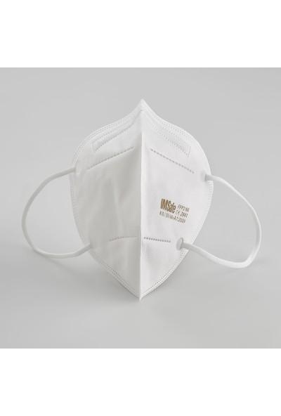 Imsafe N95 Ffp2 Koruyucu Maske 5 Katlı Ürünler 10'lu Olarak 1 Kutu
