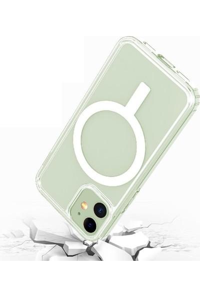 Teleplus iPhone 11 Pro Max Kılıf Coss Wireless Destekli Hibrit Silikon Şeffaf + Wireless Şarj Aleti