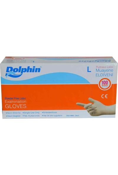 Dolphin Lateks Eldiven Pudrasız Büyük (L) - 100'LÜ