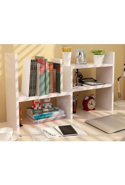 Bayz Ergonomik Kitaplık Raf Masaüstü Öğrenci Ofis Çalışma Odası