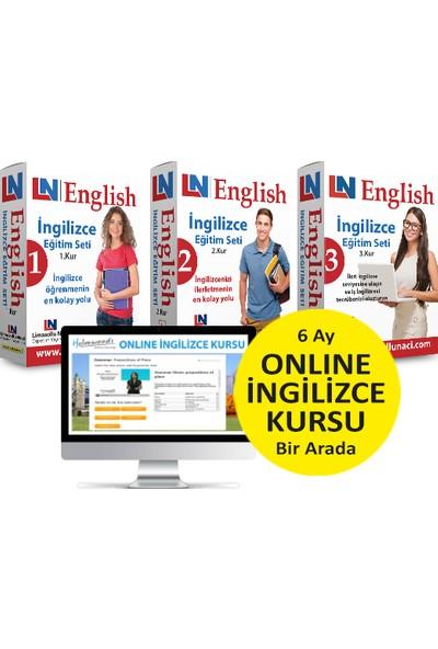 Limasollu Naci Öğretim Yayınları Ingilizce Eğitim Setleri 3 Kur Bir Arada + 6 Ay Online Ingilizce Kursu