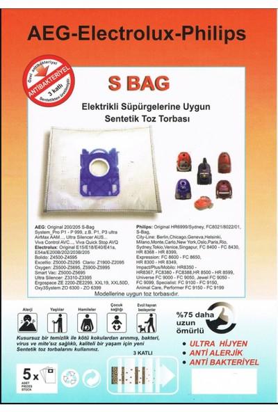 FERSAN Philips & Aeg & Eloctrolux S-Bag Süpürge Torbası 20 Adet