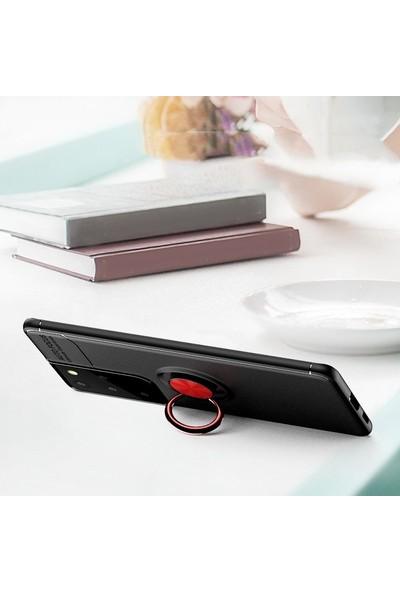 Smartberry Samsung Galaxy S21 Ultra 5g Kılıf Ravel Yüzüklü Silikon Rose Gold