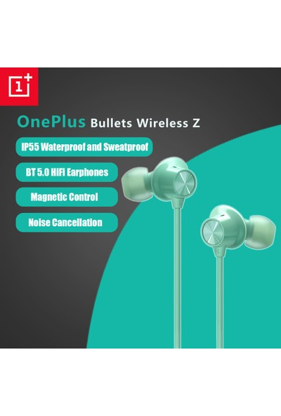 Oneplus Mermi Kablosuz Z Bluetooth 5.0 Tws Hifi Kulaklık IP55 - Yeşil (Yurt Dışından)