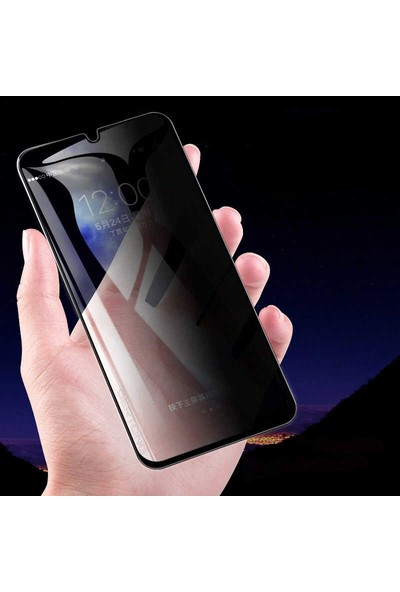 Ceponya Oppo A5 / A9 2020 5d Privacy Hayalet Temperli Ekran Koruyucu Şeffaf