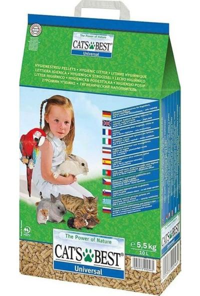 Cats Best Universal Bitkisel Kuş Kemirgen ve Kedi Kumu 5,5 kg 10 Litre