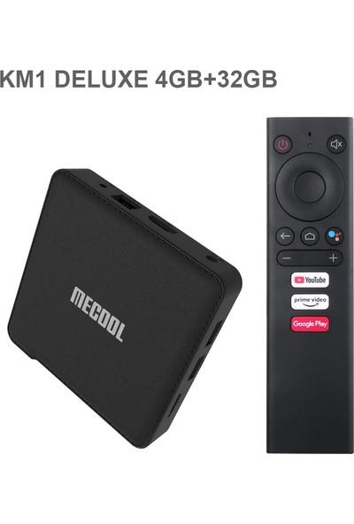 Mecool Km1 Tv Kutusu Deluxe 4 GB + 32 GB S905X3 Dört Us Plug (Yurt Dışından)