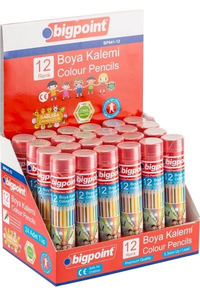 Bigpoint Boya Kalemi 12 Renk Metal Tüp 3.3 Mm