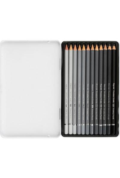 Bigpoint Metal Kutulu Dereceli-Resim-Çizim Kalemi-Drawing Pencil 12'li