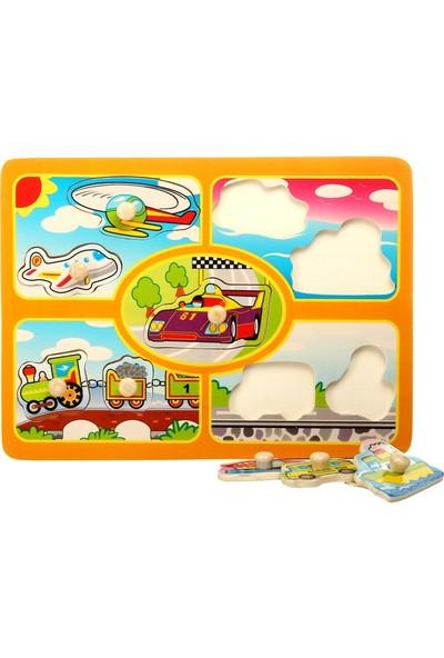 Hongji Ahşap 98052 Puzzle Araç Pimli Bohj98052