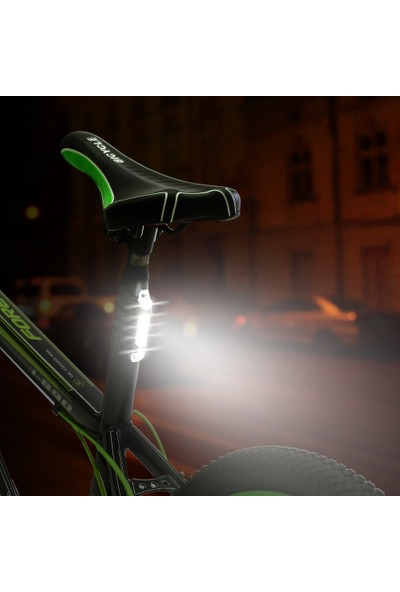 MBW Parlak USB Şarj Edilebilir Bisiklet Arka Lambası (Yurt Dışından)