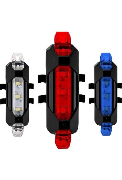 MBW USB Şarj Edilebilir Arka Bisiklet Işığı LED Bisiklet (Yurt Dışından)