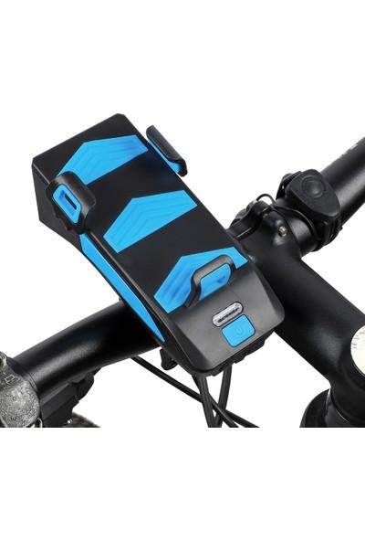 West Biking Çok İşlevli 4 in 1 Bisiklet Işık 400 Lümen Bisiklet Feneri (Yurt Dışından)