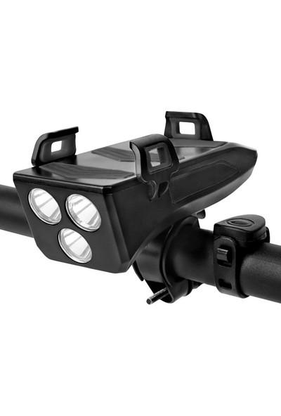 MBW 4 in 1 Çok Fonksiyonlu Bisiklet Işık Bisiklet Boynuz Lamba (Yurt Dışından)