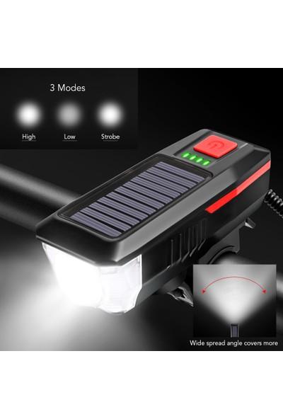 MBW Güneş Enerjili / USB Şarjlı Bisiklet Işığı (Yurt Dışından)
