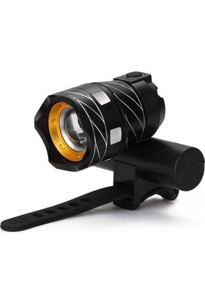 MBW LED USB Şarj Edilebilir Dış Mekan Zumlanabilir T6 Bisiklet (Yurt Dışından)