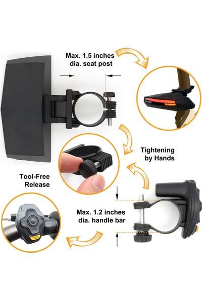 Bikelight Fren Bisiklet Arka Işık Kuyruk Lambası Akıllı (Yurt Dışından)