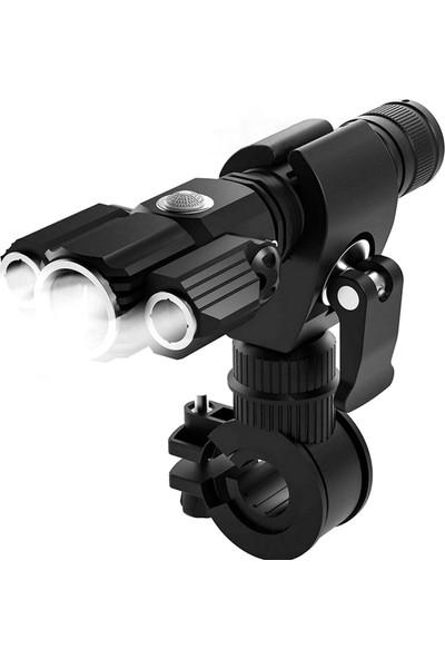 MBW 3 Ampullü LED El Feneri 1000 Lümen Ultra Parlak El (Yurt Dışından)