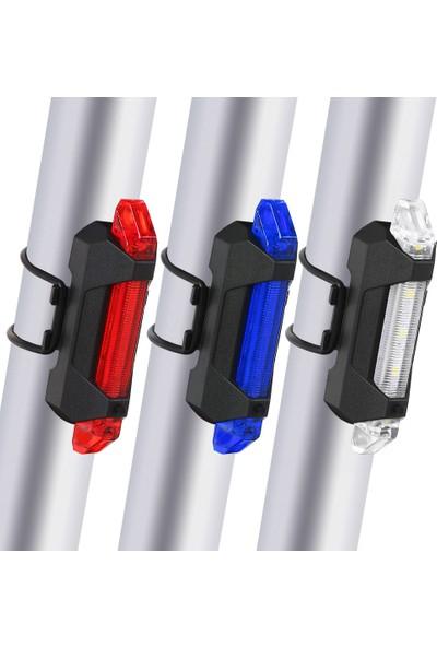 MBW 3'lü Parlak USB Şarj Edilebilir Bisiklet Arka (Yurt Dışından)