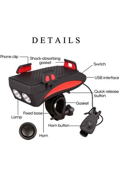 MBW Bisiklet Cep Telefonu Braketi Sürme Ön Işık Hoparlör (Yurt Dışından)