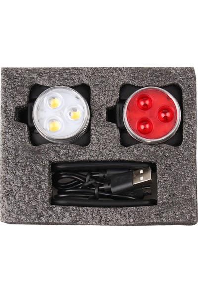 MBW Bisiklet Işık Set Su Geçirmez USB Şarj Edilebilir Bisiklet (Yurt Dışından)