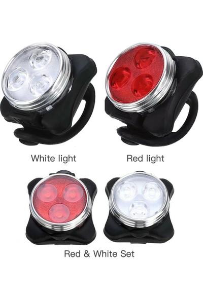 MBW Kırmızı Kuyruk Işık Bisiklet Lambası 3l-Ed USB Klip (Yurt Dışından)
