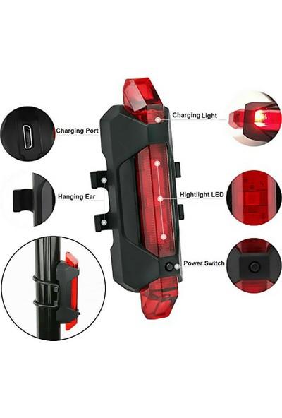 MBW Şarj Edilebilir LED Bisiklet Işık Bisiklet USB Su Geçirmez (Yurt Dışından)