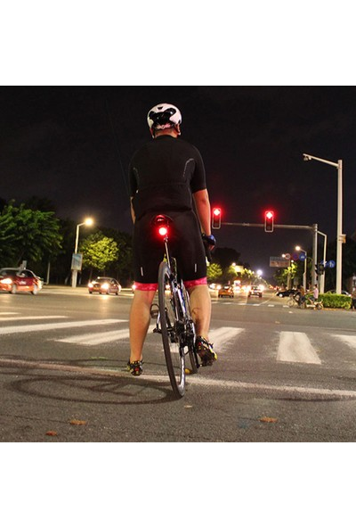 MBW USB Şarj LED Bisiklet Arka Lambası Hırsız Alarm Uzaktan (Yurt Dışından)