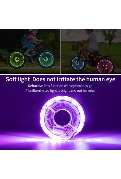 West Biking LED Bisiklet Tekerlek Işık Bisiklet Ön Kuyruk Hub 7 (Yurt Dışından)