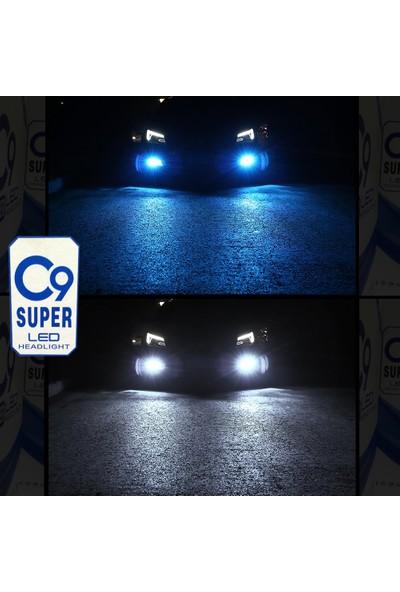 C9 Ultra Buz Mavi LED Xenon Soğutuculu Far Ampulü 9400 Lümen 10000K H4