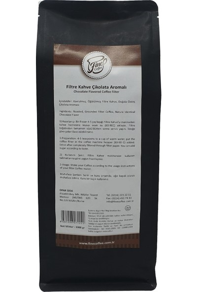 Fine Coffee Çikolatalı Filtre Kahve ( 1000 gr )