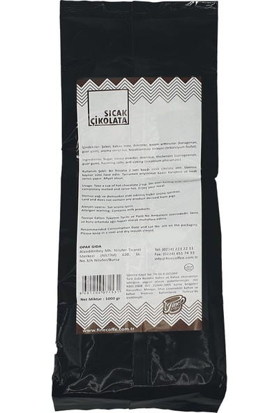 Fine Coffee Sıcak Çikolata ( 1000 gr )