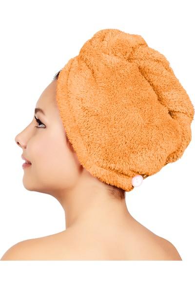 Chizgy Mikrofiber Düğmeli Saç Havlusu Saç Bonesi
