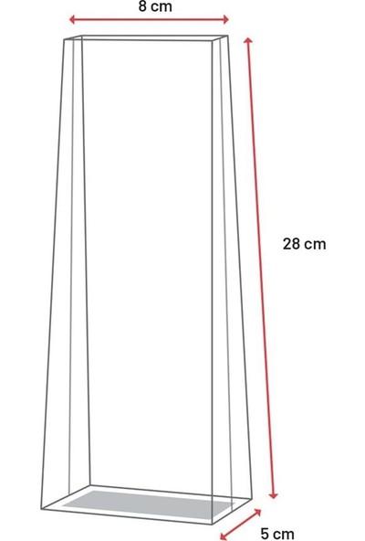 Ambalaj Pazarı Tabanlı Torba Şeffaf 8X28 5 cm (Sert Tabanlı) - 100'LÜ