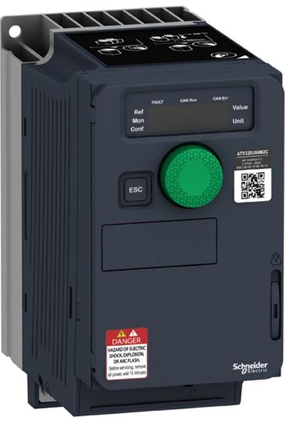 Schneider Hız Kontrol Cihazı ATV320 - 0.37KW - 200...240V - Monofaze - Kompakt Tip