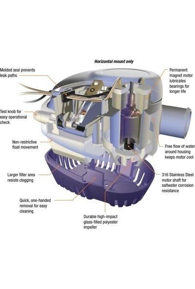 Attwood Sahara 500GPH Otomatik Sintine Pompası 12V