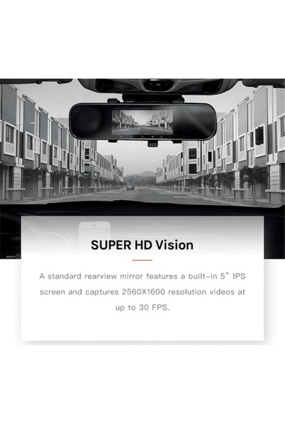 Xiaomi D08 Arka Kamera + 70MAI 1600P Araç Içi Dikiz Aynası Kamera