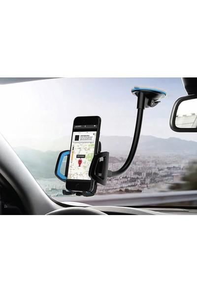 BLUERAİN ARAÇ İÇİ ARABA İÇİ TELEFON VE GPS NAVİGASYON TUTUCU BÜTÜN TELEFON MODELLERİNE UYGUN VANTUZLU VAKUMLU