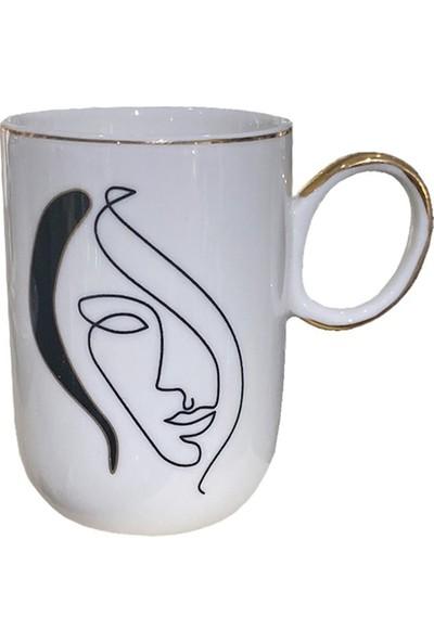 Winterbach Abstract Desenli Kahve Takımı 6 Kişilik