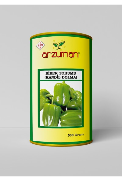 Arzuman Kandil Dolma Biber Tohumu 500 Gram