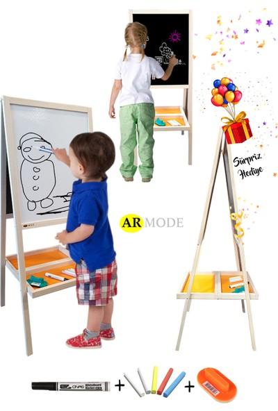 Armode Kids Eco Serisi Çift Taraflı Ahşap Çocuk Yazı Tahtası