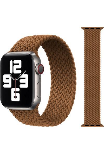 Schulzz Apple Watch Seri 3-4-5-6-Se Premium 42-44 mm Örgü Solo Loop Kumaş Kordon