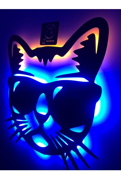 Dekoraven Cool Cat LED Işıklı Tablo