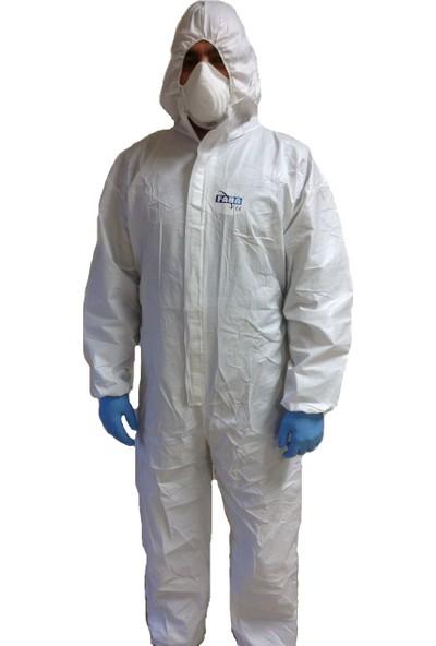 Faba T-530 Virüslere Karşı Üst Düzey Koruyucu Tulum (L Beden)