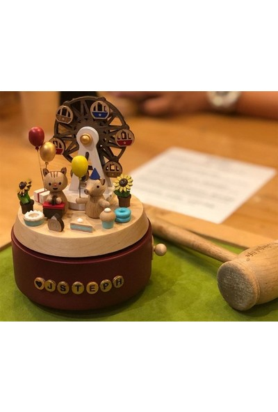 Wooderful Life Kedicik ve Topu Ahşap Kendin Yap Figür - 1084870