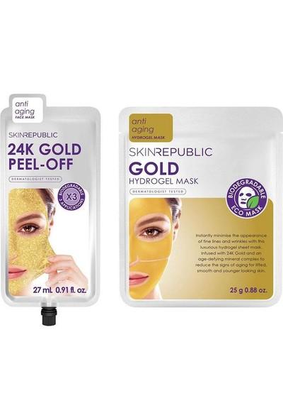 Skin Republic Skin Rebuplic Altın Soyulabilir Yüz Maskesi + Altın Hidrojel Yüz Maskesi